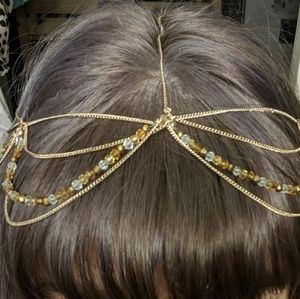 Accessories - Beaded Chain Boho Hair Accessory